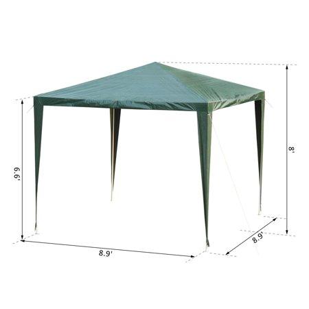 9x9ft Party Tent Outdoor Gazebo Canopy Portable Folding Sunshade Dark Green - image 3 de 7