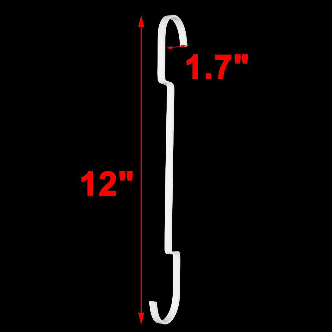 Bathroom Metal Clothes Dress Skirt Coat Holder Hanging Hook White 40.5cm 5 Pcs - image 3 of 4