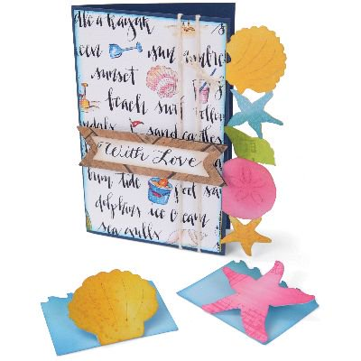 "Sizzix Bigz XL Die 6""X13.75""-Seashells & Starfish Cards & Mini Cards"