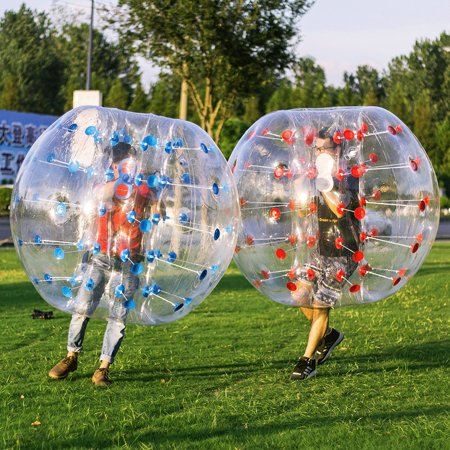 VEVOR Inflatable Bumper Ball 2 PCS 5FT Bubble Soccer Ball 0.8mm Eco-Friendly PVC Zorb Ball Human Hamster Ball for Adults and Kids (Bubble Soccer Balls For Adults)
