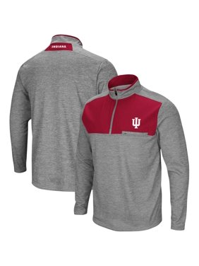Indiana Hoosiers Colosseum Big & Tall Alligators Are Ornery Quarter-Zip Pullover Jacket - Heathered Gray