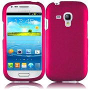 Hard Rubberized Case plus Stylus Pen & Opener for Samsung Galaxy S3 Mini i8190 - Hot Pink