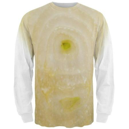 Halloween Yellow Sweet Onion Costume All Over Mens Long Sleeve T Shirt