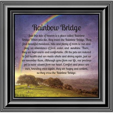 Rainbow Bridge, Sympathy Gift for Loss of a Beloved Pet, Memorial Frame, 10x10 8707 Sutton Bridge Black Frame
