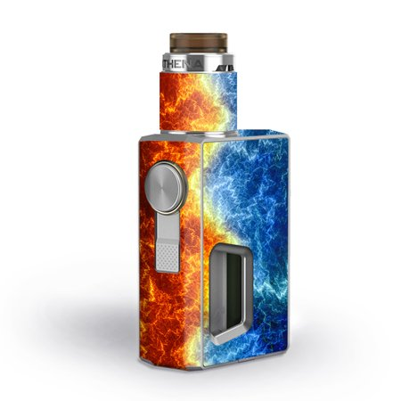 Skin Decal for GeekVape Athena Squonk Vape / Fire and Ice ()