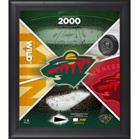 """Minnesota Wild Framed 15"""" x 17"""" Team Impact Collage with a Piece of Game-Used Puck - Limited Edition of 500 - Fanatics Authentic Certified"""