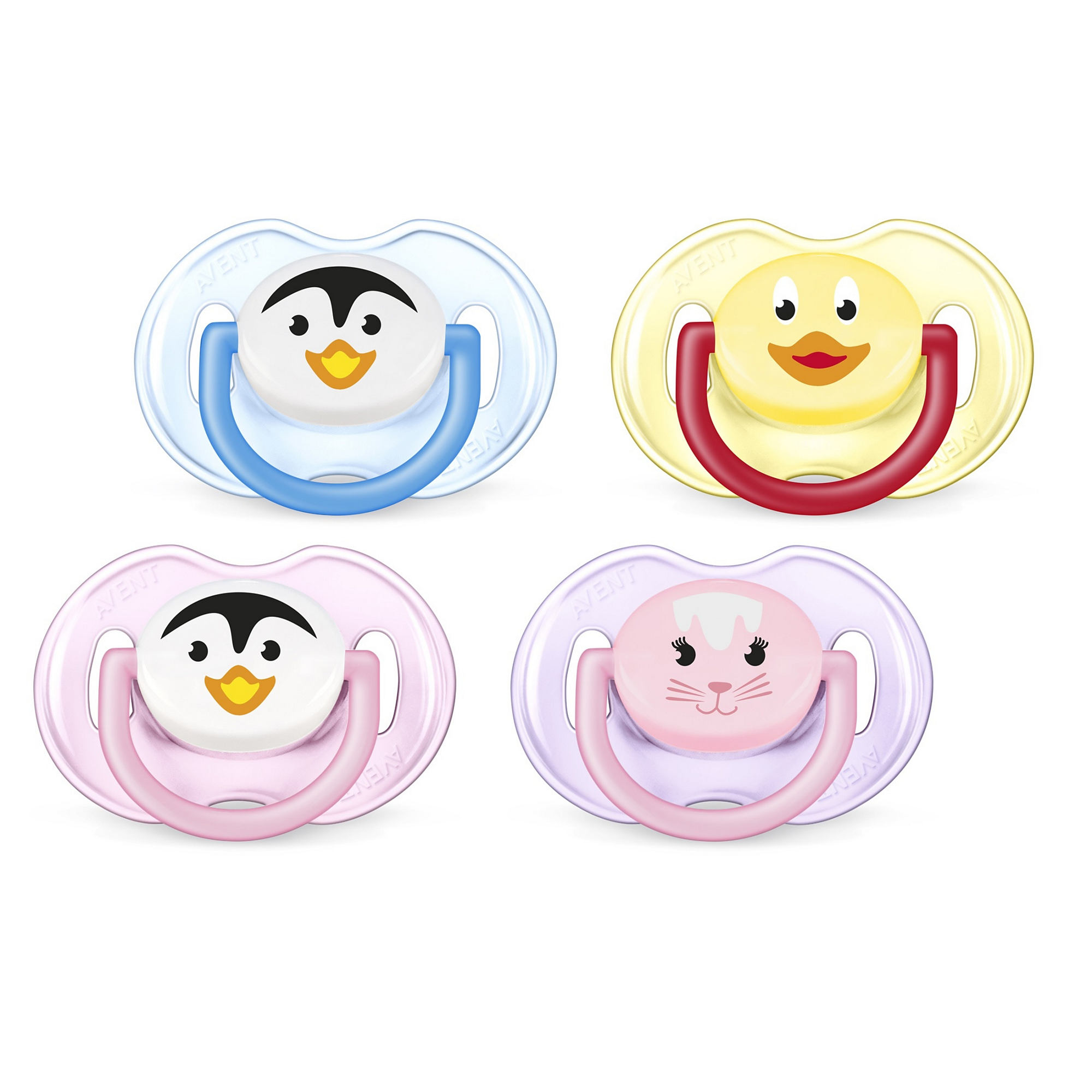 Philips Avent Orthodontic Pacifier, 0-6 months, Various Animal Designs, 2 pack, SCF182/23 (Design may vary)