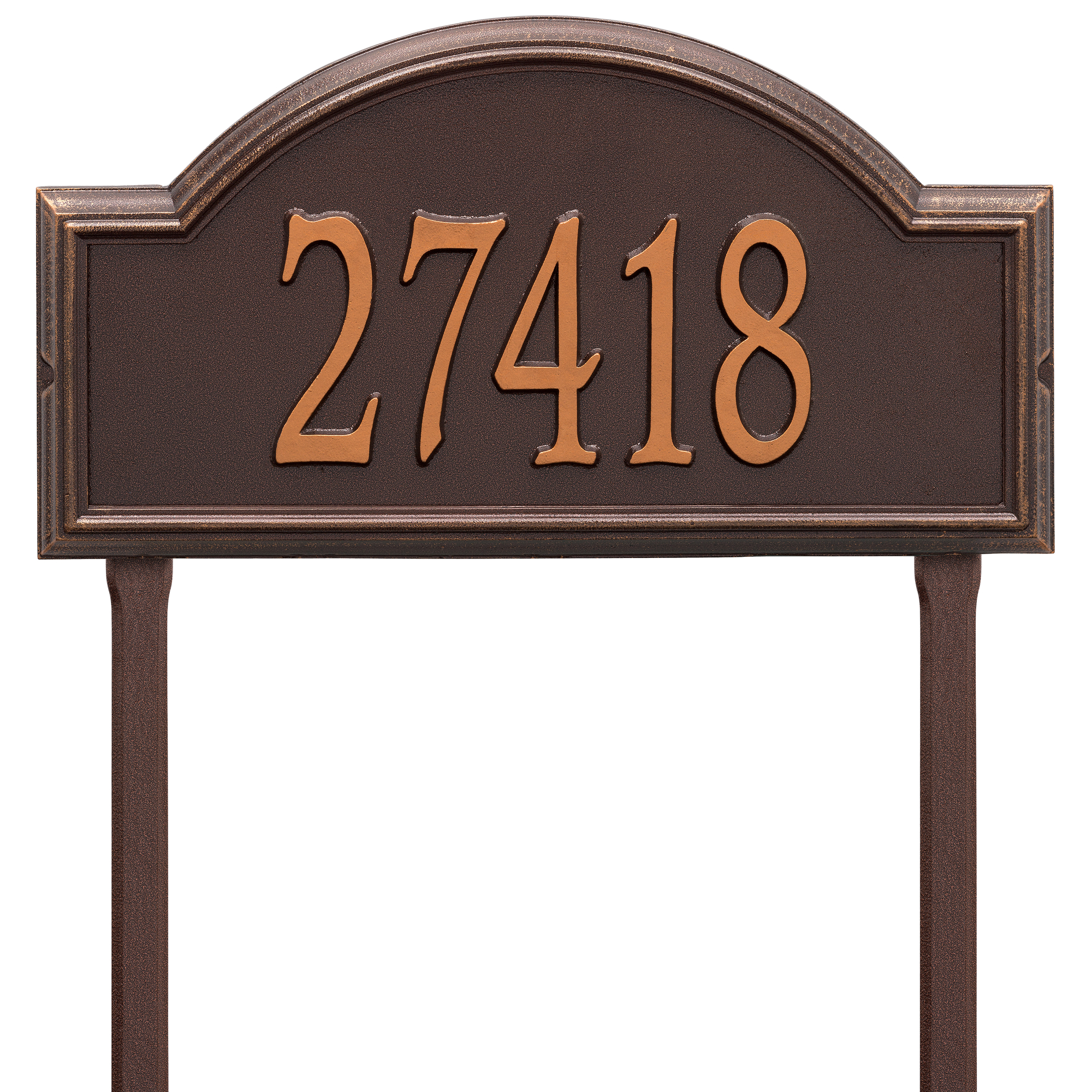Personalized Whitehall Products Providence Arch Address Plaque in Copper by Whitehall