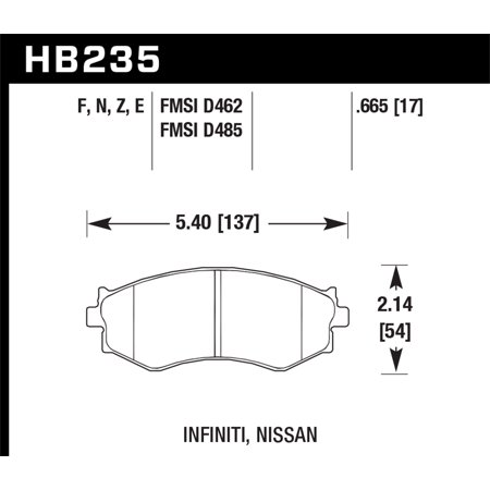 Hawk 91-96 Infiniti G20/ Nissan 240SX/ Sentra HPS Street Front Brake Pads
