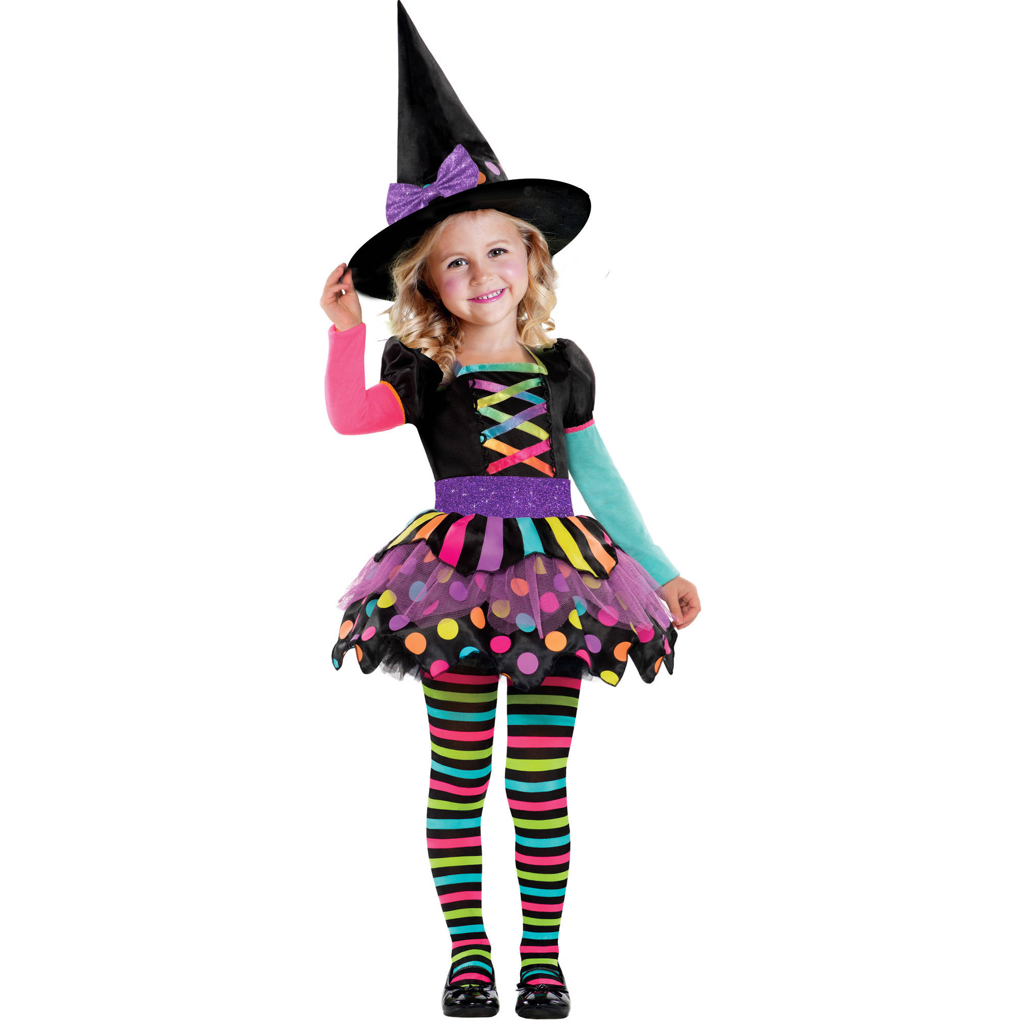 Rainbow Witch Child Halloween Costume