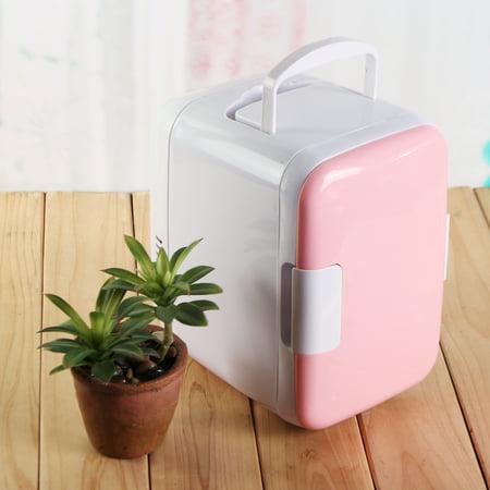 4L Pink Portable Mini Fridge Cooler & Warmer For Auto Car Boat Home Office (Auto Cooler Warmer)