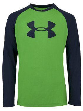 21a5bf77 Product Image Under Armour Boys' Two-Tone Big Logo L/S T-Shirt