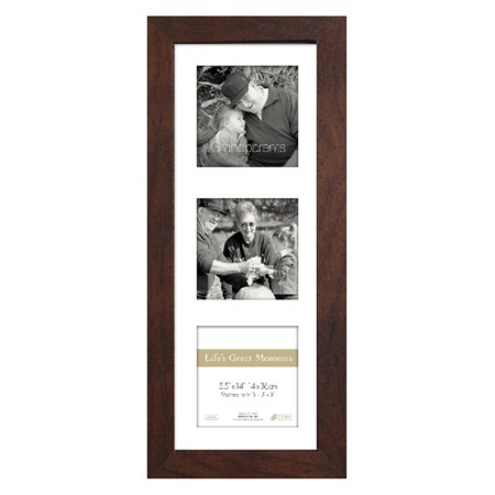 Timeless Frames Lifes Great Moments Three Opening Vertical Collage Photo Frame ()