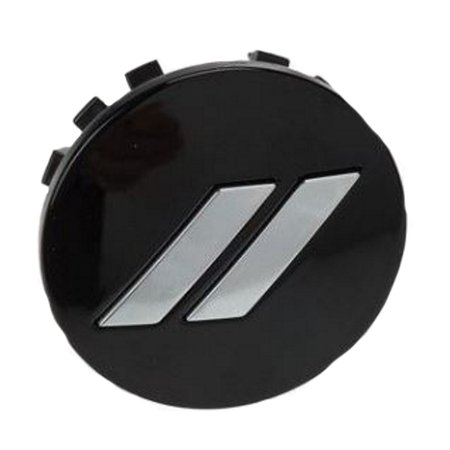Factory New Mopar Part # 6CZ27DX8-AA Black Wheel Center Cap with Chrome Dodge Rhombus Logo For Dodge Challenger, Charger, and Journey