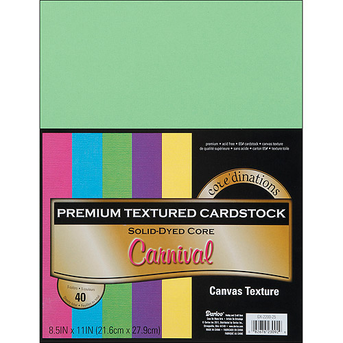 "Core'dinations Cardstock Value Pack, 8.5"" x 11"", 40pk"