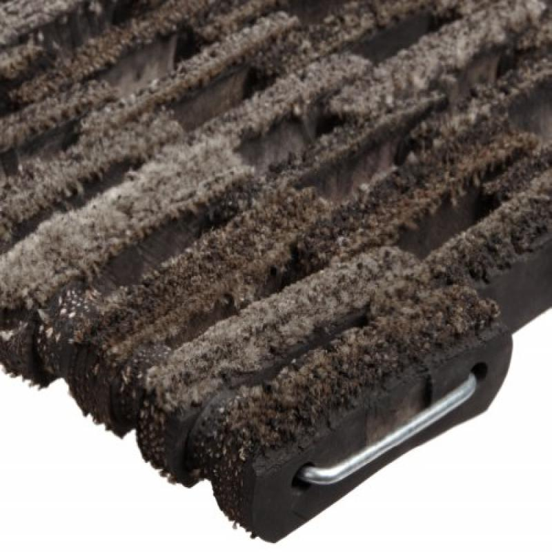 DurIle Corporation 400 Dura-Rug FIric Tire-Link Entrance Mat, for Outdoors and Vestibules, 20 Width x 30 Length x 3/4 Thickness, Natural