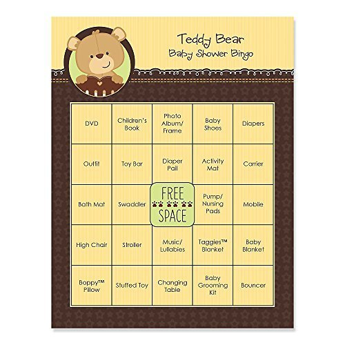 Baby Teddy Bear - Baby Shower Bingo Cards - 16 Count
