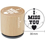 """Woodies Mounted Rubber Stamp 1.35""""-I Miss You"""