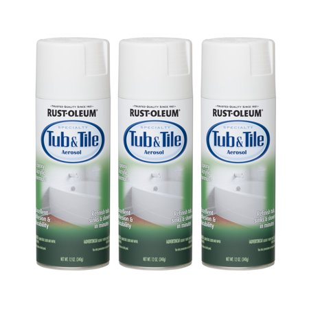 (3 Pack) Rustoleum Tub And Tile White Aerosol