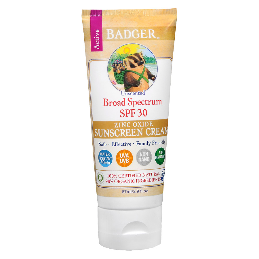 Badger Unscented Sunscreen, SPF 302.9 oz.(pack of 1)