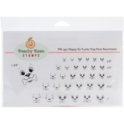Peachy Keen Stamps Clear Face Assortment 31/Pkg-Happy Go Lucky Dog