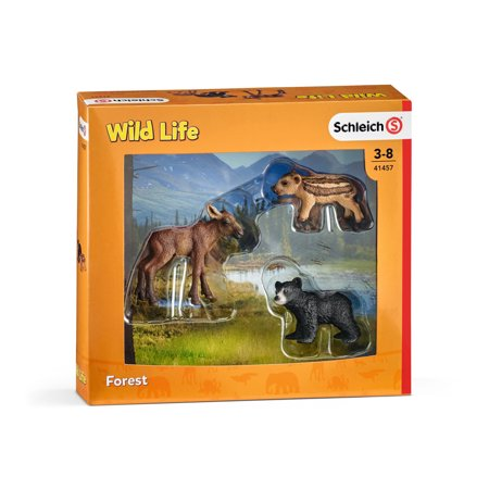 Forest Animal Toy (Schleich Wild Life, Forest Animal Babies Toy Figure)