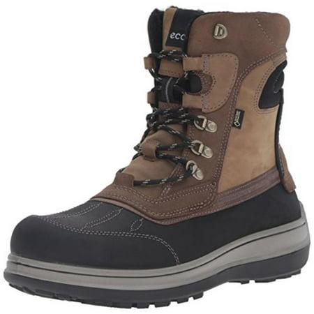 ECCO - ECCO Mens Roxton Leather Gore-Tex Snow Boots - Walmart.com