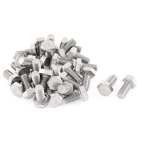 Uxcell M6x12mm Metric 304 Stainless Steel Fully Threaded Hex Head Screw Bolt (30-pack)
