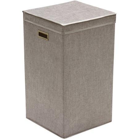 greenway gfl2500gr collapsible laundry hamper grey linen. Black Bedroom Furniture Sets. Home Design Ideas