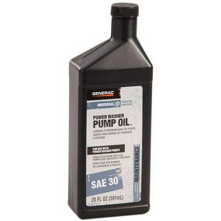 Pump Pressure Tanks - Generac Pressure Washer Pump Oil, SAE 30