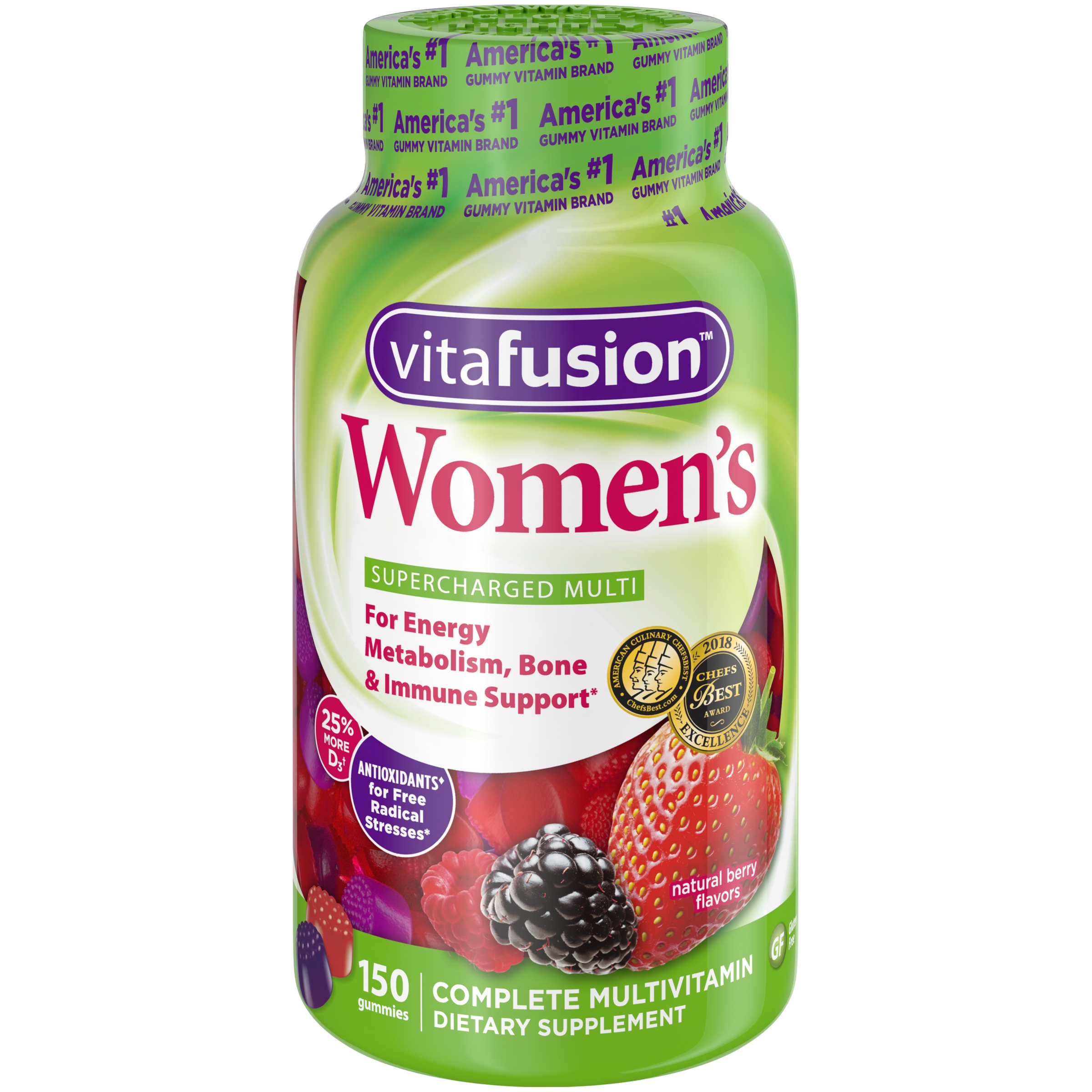 Vitafusion Adult Women's Multivitamin Gummies, Berry, 150 Ct