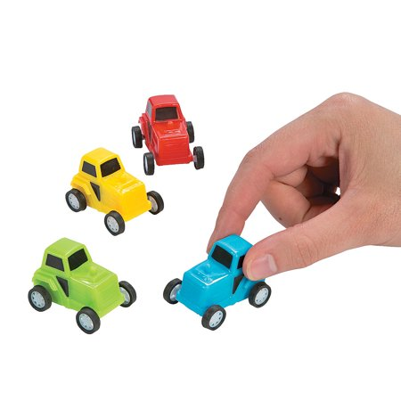 Fun Express - Pullback Tractors for Birthday - Toys - Vehicles - Cars & Boats & Racers - Birthday - 12 Pieces - Tractor Favors