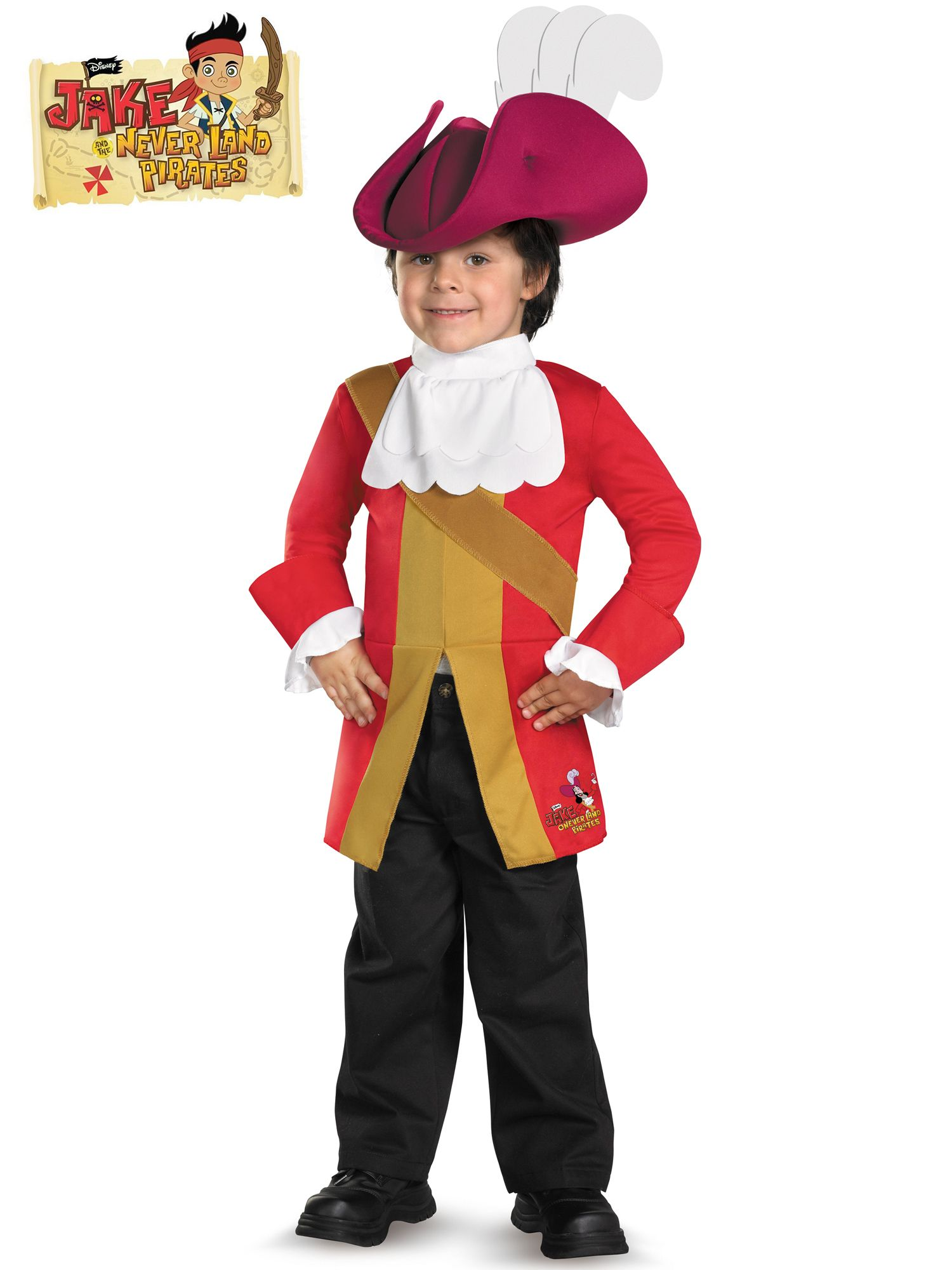 Captain Hook from Jake and the Neverland Pirates Costume by Disguise