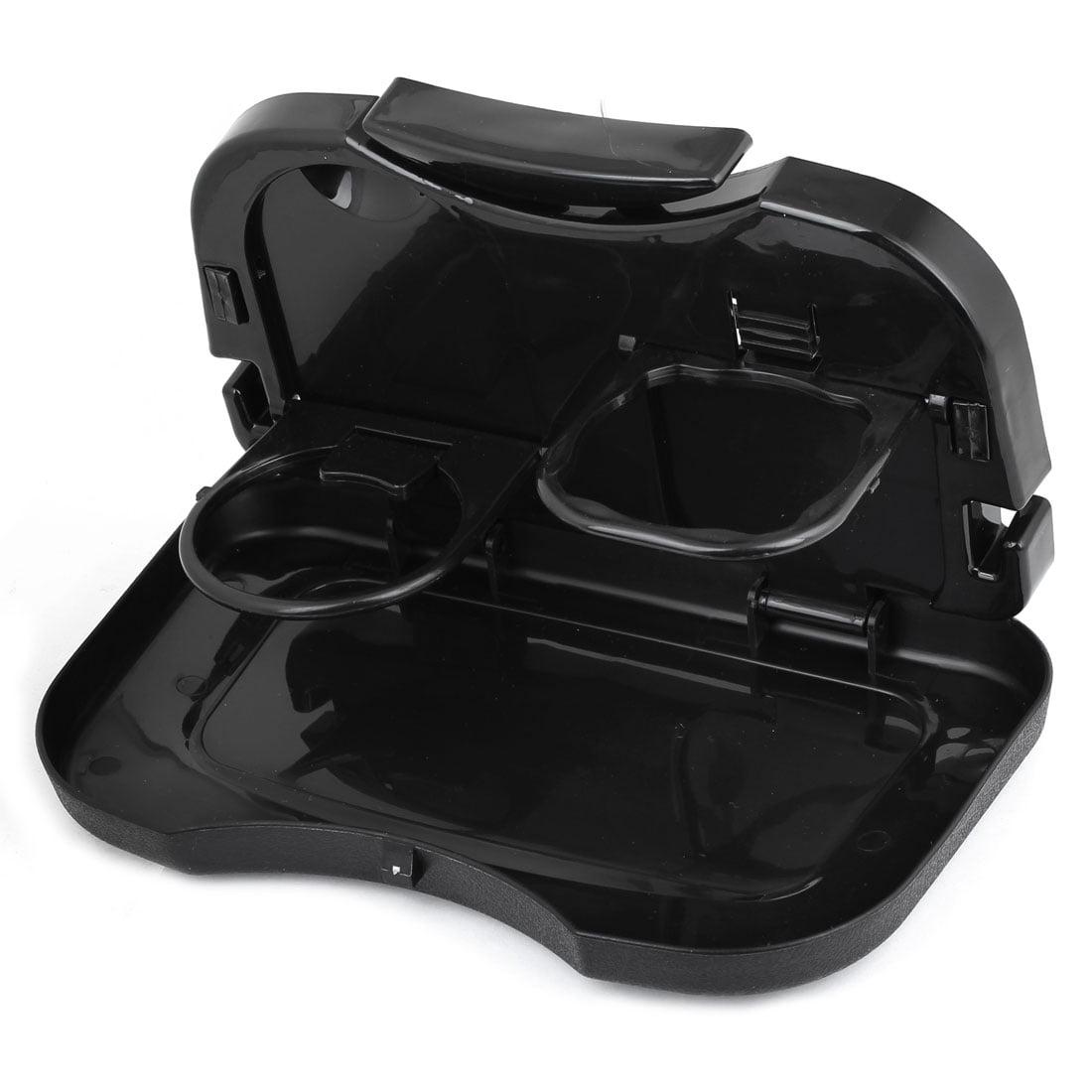 Durable Plastic Folding Back  Car Beverage Cup Holder Stand for Snack Beverage Black