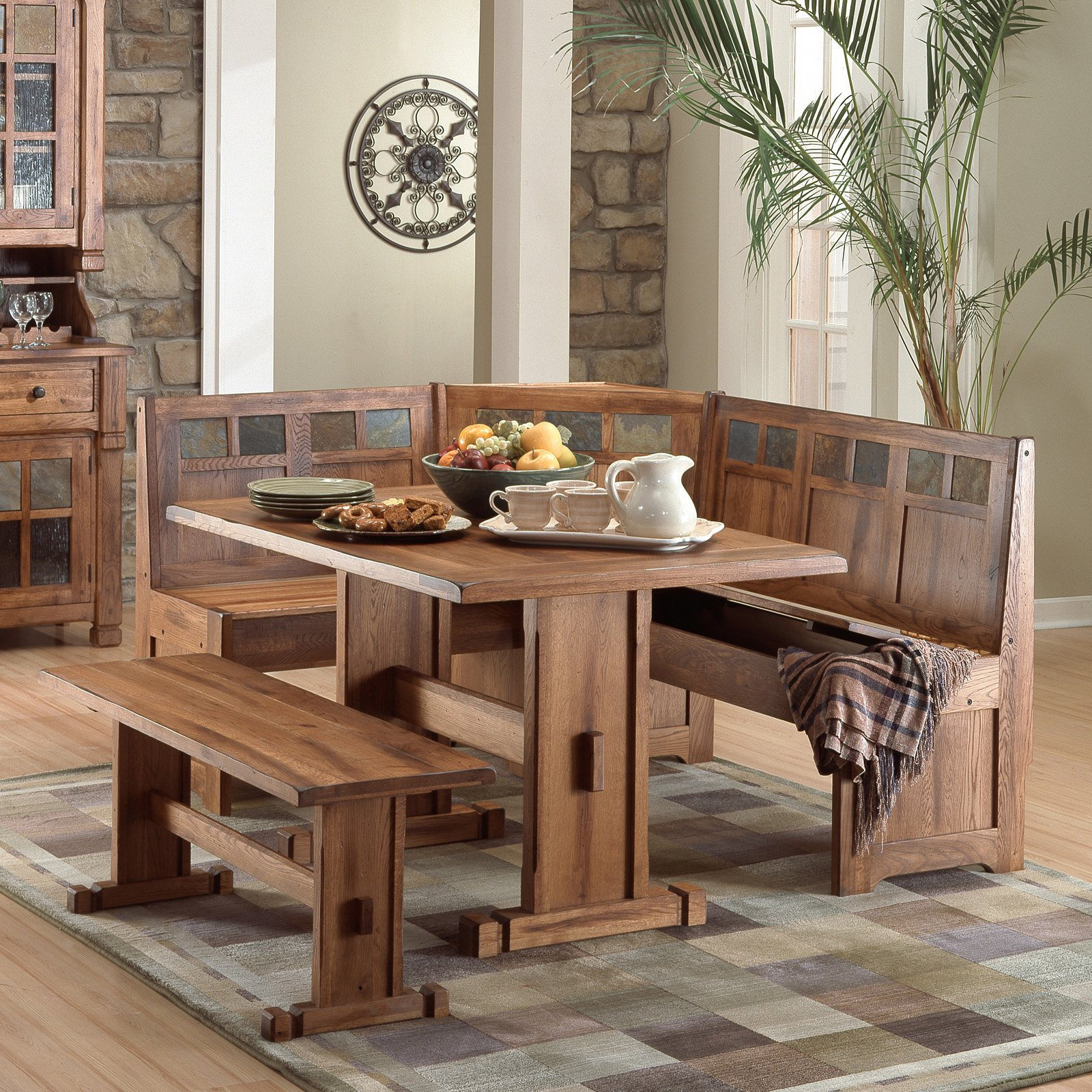 Sunny Designs Sedona 4 Piece Breakfast Nook Set