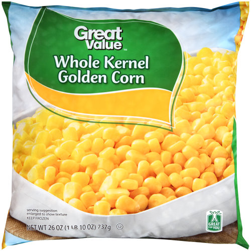 Great Value Frozen Whole Kernel Golden Corn, 26 oz