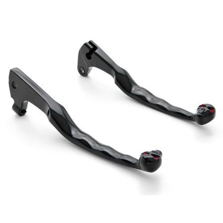 Brake Lever Grips - Krator Yamaha Black Brake / Clutch Skull Hand Levers - Virago, V-Star and More! (1985-2011) Billet Aluminum Black Brake and Clutch Skull Hand Grips Levers Left and Right One Pair Motorcycle