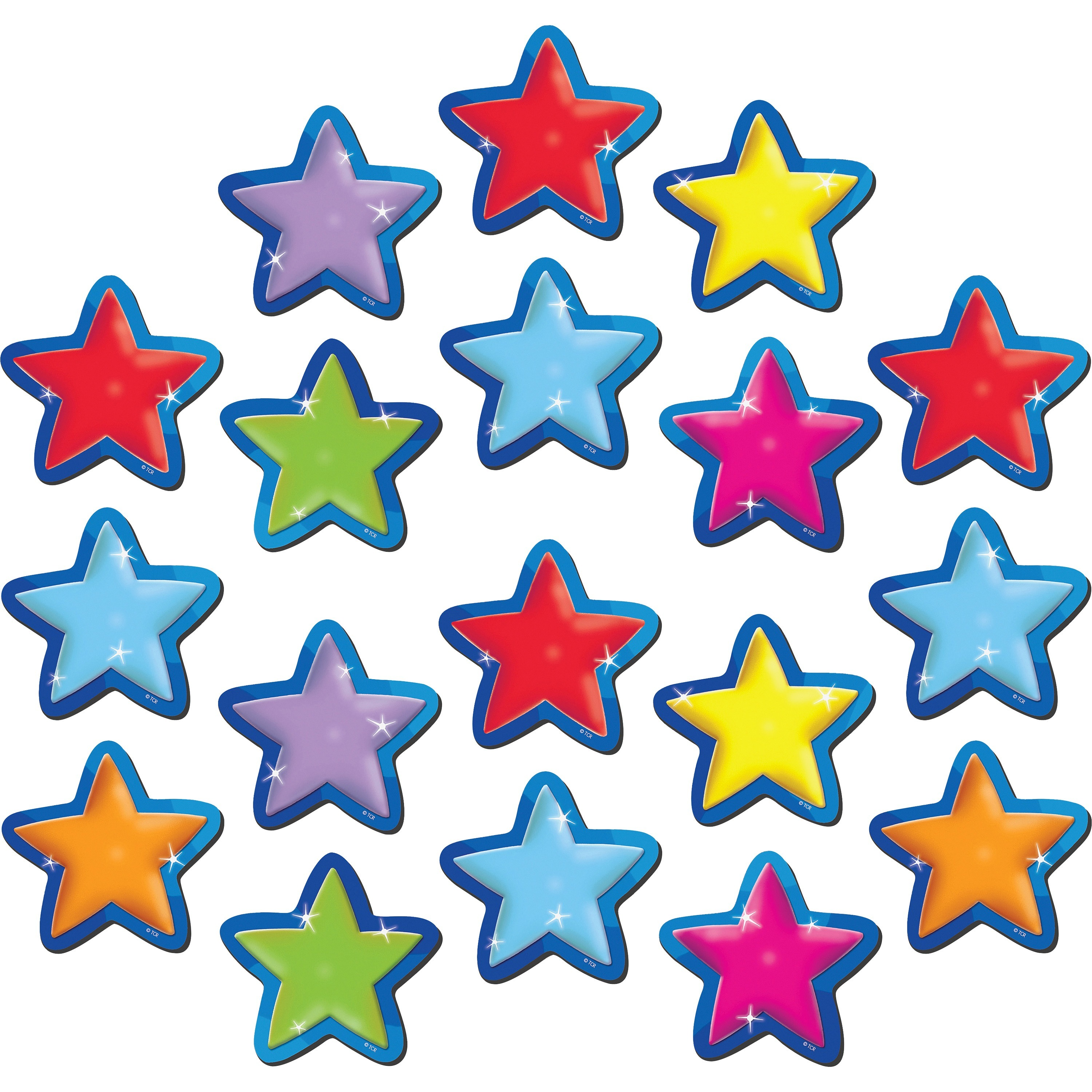 Teacher Created Resources, TCR77209, Stars Magnetic Accents, 18 / Set, Multicolor