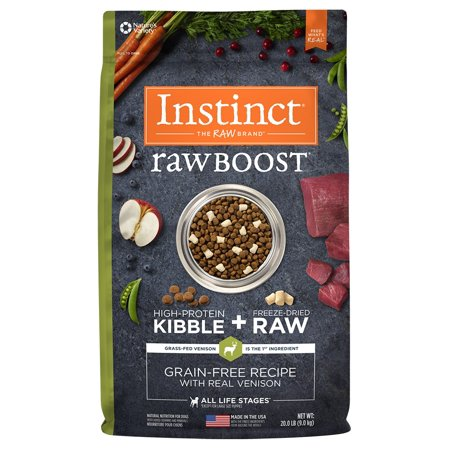 Instinct Raw Boost Grain-Free Recipe with Real Venison Natural Dry Dog Food by Nature's Variety, 20 lb. Bag