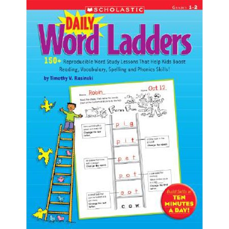 Daily Word Ladders: Grades 1-2 : 150+ Reproducible Word Study Lessons That Help Kids Boost Reading, Vocabulary, Spelling and Phonics Skills! (Halloween Vocabulary Words)