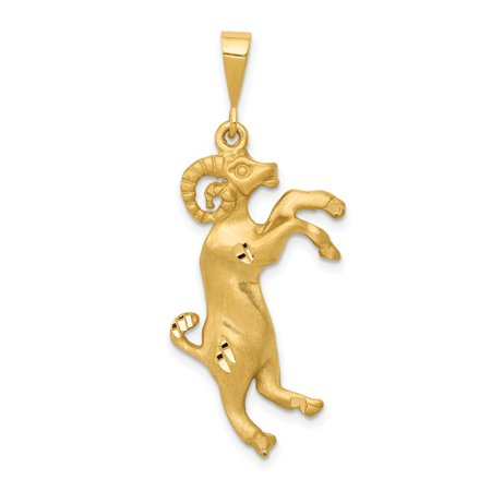 Aries Zodiac Pendant - 14K Yellow Gold Aries Zodiac Charm