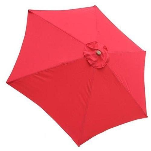 red 9 foot patio umbrella canopy replacement 6 rib