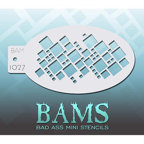 Bad Ass Squares Mini Stencil BAM1027
