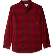 Columbia Men's Big and Tall Long Sleeve Shirt, Elderberry Large Plaid, XLT - NEW