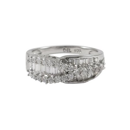 Dlux Jewels Sterling Silver-Cubic Zirconia Ring, 5 in. - image 1 de 1