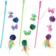 Ethical Cat-Butterfly & Mylar Teaser Wand Cat Toy- Assorted 16 Inch