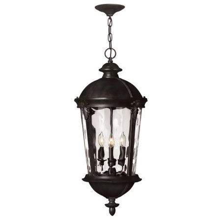 Hinkley Lighting 1892Bk 4 Light 28 5  Height Outdoor Lantern Pendant From The Wi