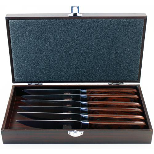 BergHOFF Pakka 6-piece Steak Knife Set with Wood Gift Case