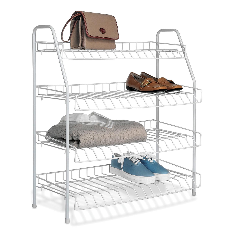Whitmor 4-Tier Closet Shelves White