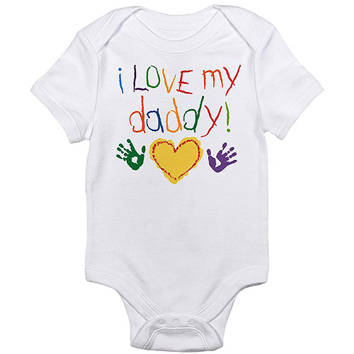 CafePress Newborn Baby Boy, Girl or Unisex Love Daddy Bodysuit
